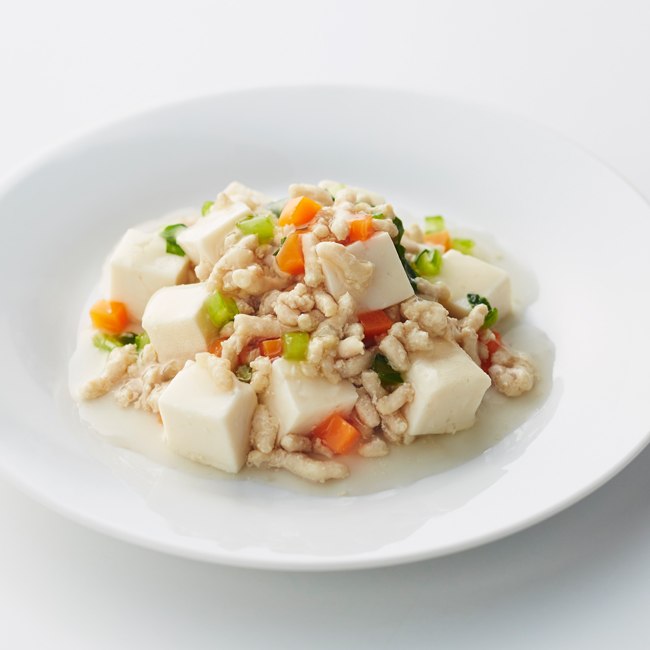 豆腐と鶏そぼろ煮