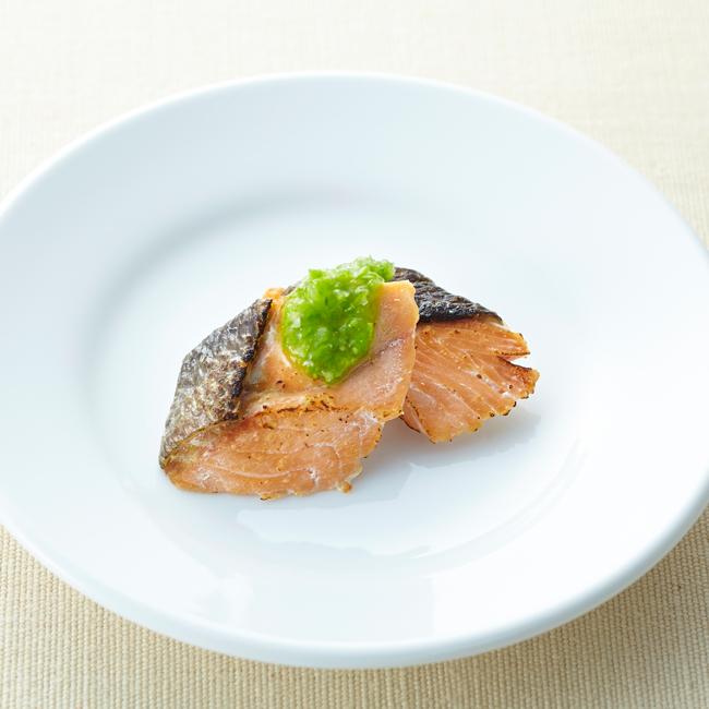 鮭のグリーンソース