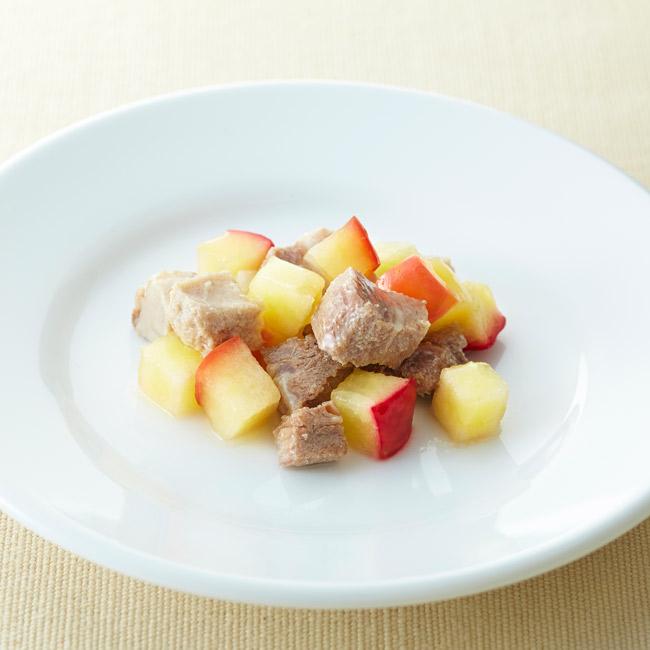 リンゴと豚肉の柔らか煮