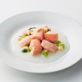 鮭と小松菜のあんかけ煮